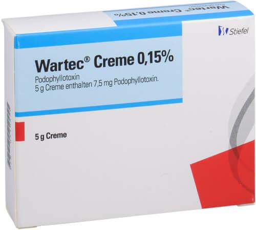Wartec - die Creme gegen Genitalwarzen   DrEd