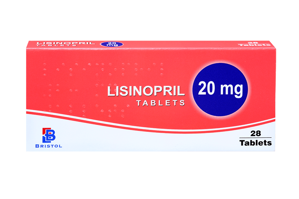 Lisinopril pack with 28 tablets
