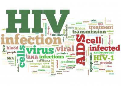 HIV word illustration